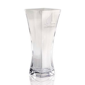 Lead-Free Crystal Clear Square Vase